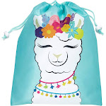 12-Pack Drawstring Llama Party Favor Bags For Fiestas And Birthday Parties, 10 X 12 Inches
