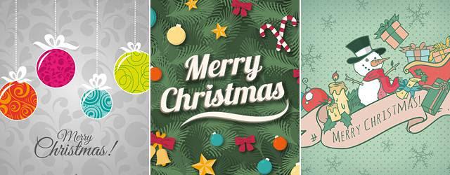 無料素材可愛いデザインいろいろクリスマスカードのイラスト