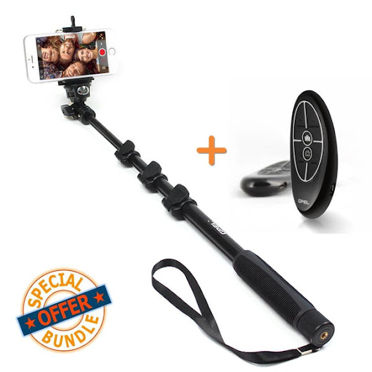 Pebble™ Multi-functional Bluetooth Remote and Monopod Combo