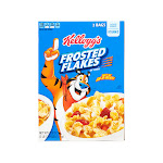 Frosted Flakes Cereal, 62oz box, 2 bags 61.9 oz.