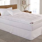 Kathy Ireland Home Gallery Cotton Gusseted Feather Bed Full - Cal King White