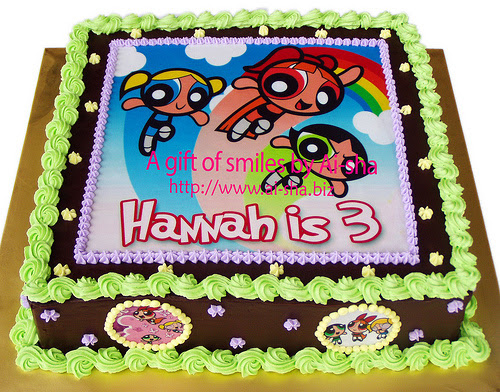Birthday Cake Edible Image Powerpuff Girls Ai-sha Puchong Jaya