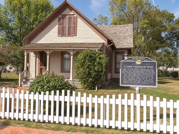 "Pulitzer Prize-winning novelist Willa Cather described her childhood home in Red Cloud, Nebraska, as ""...everything a little on the slant."""