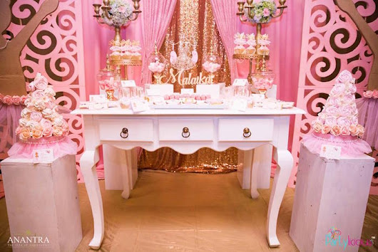 Kara's Party Ideas Gold & Pink Ballerina Birthday Party | Kara's Party Ideas