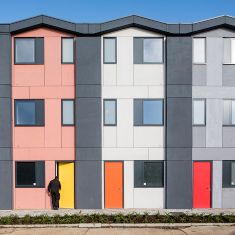 Richard Rogers' prefab housing for homeless people opens