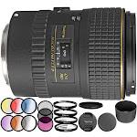 Tokina 100mm f/2.8 AT-X M100 AF Pro D Macro Autofocus Lens for Canon EOS Filter Bundle