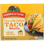 Garden of Eatin' Yellow Corn Taco Shells - Taco Shells - Case of 12 - 5.5 oz.