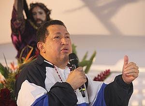 'Cristo, dê-me sua cruz, mas não me leve ainda', disse presidente da Venezuela, Hugo Chávez, em discurso nesta 5ª à noite