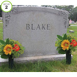 Evelots Cemetery Cone Vases-With Stakes-10 inch Long-Graveside Memorial-Set of 2