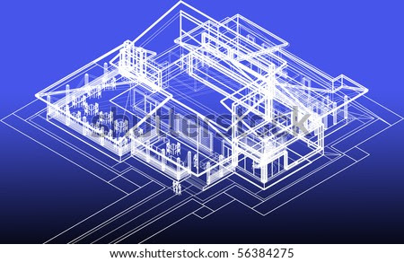 Blueprint Restaurant Concept Stock Photo 56384275 : Shutterstock
