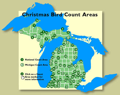 Christmas Bird Count Map