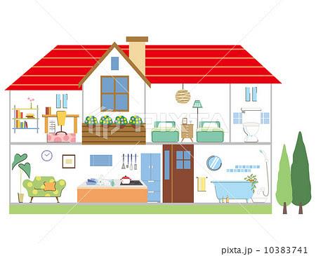 家の間取りのイラスト素材 10383741 Pixta