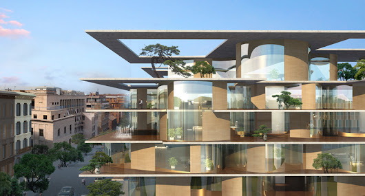 MAD architects transforms urban block in rome with green residences - designboom | architecture & design magazine