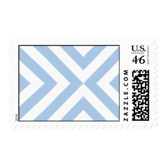 Light Blue and White Chevrons Stamps