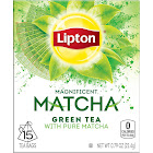 Lipton Magnificent Matcha Green Tea - 15 bags, 0.79 oz box