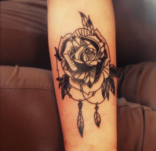 Rose Rose Tattoo On Forearm