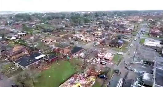 Drone video captures N.O. east damage |