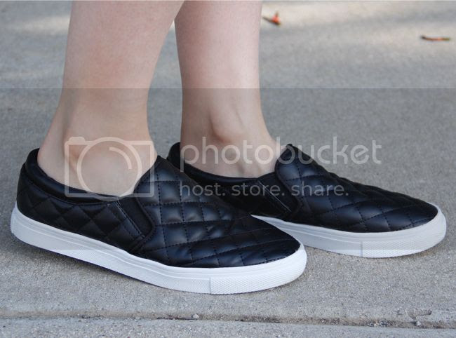 H&M black quilted slip-on sneakers