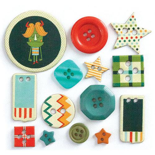 Fancy Pants Designs - Be Different Collection - Button Set