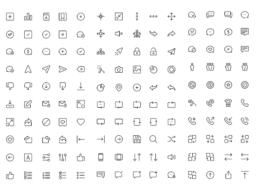 UI Line Icons Sketch freebie - Download free resource for Sketch - Sketch App Sources
