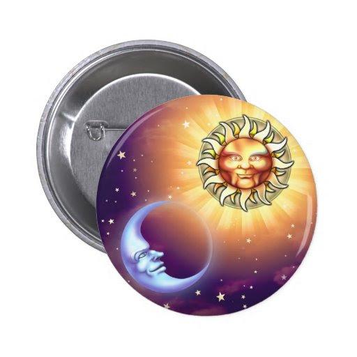Sun & Moon Faces Button from Zazzle.