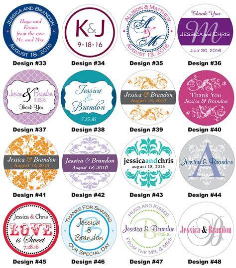 120   1.5 inch Custom Personalized Glossy Wedding Stickers