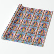 SOLD! - Cool oriental tibetan thangka god tattoo mandala wrapping paper
