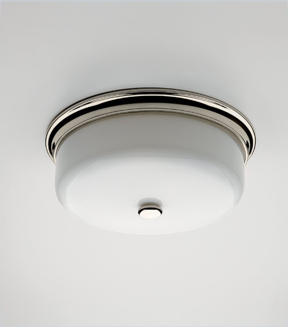 Round Ceiling Mounted Lighting with White Glass Shade