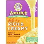 Annies Homegrown Macaroni Dinner - Creamy Deluxe - Shells and Real Aged Cheddar Sauce - 11 Ounce -PACK 12