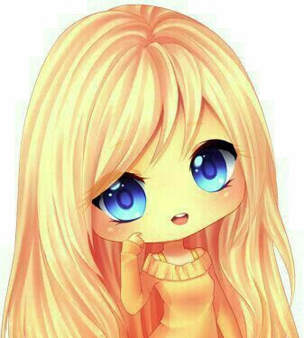 Chibi Orange Anime Girl