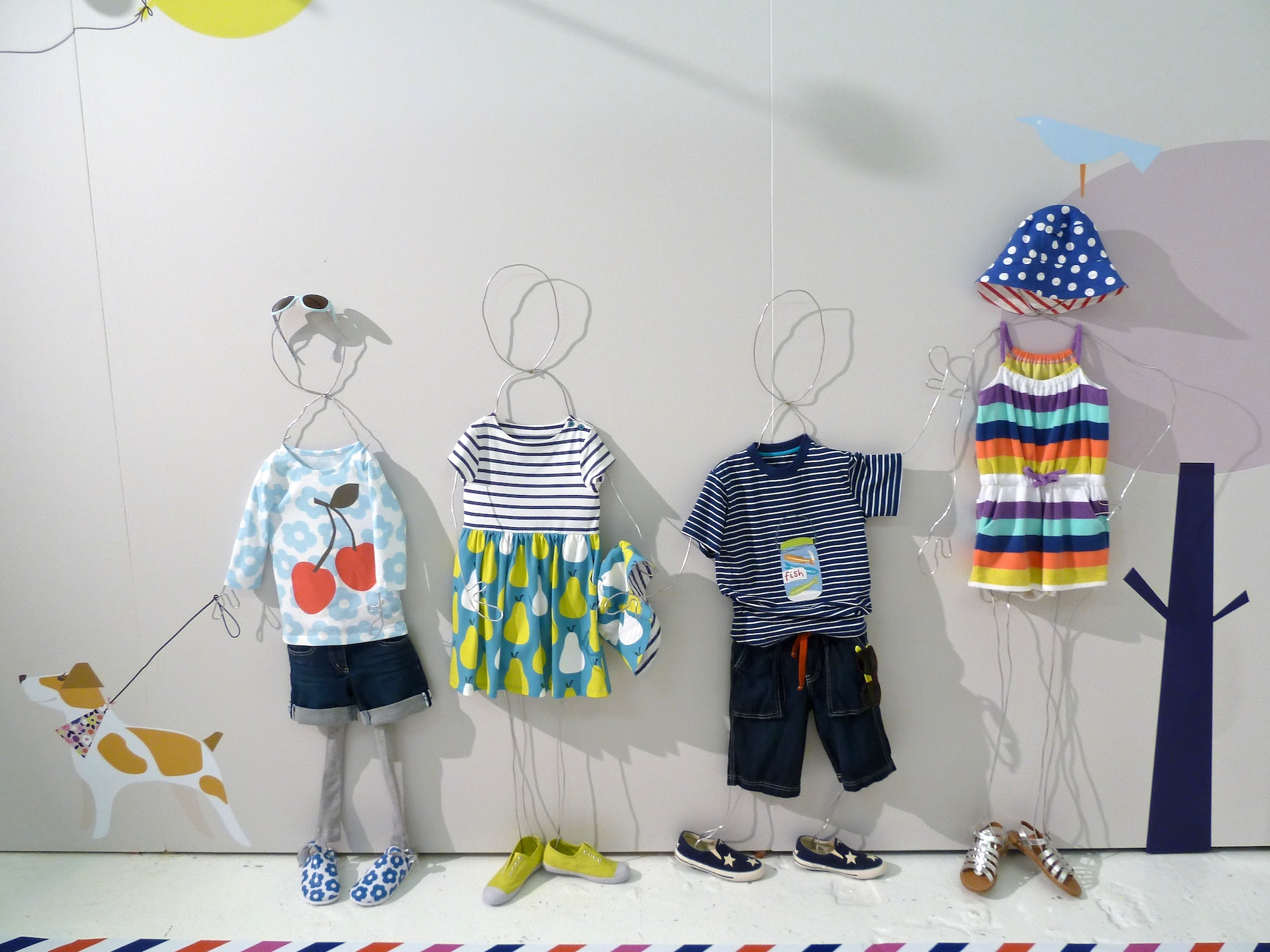 Retro prints and cute striped playsuit for kids fashion from Mini Boden for summer 2012