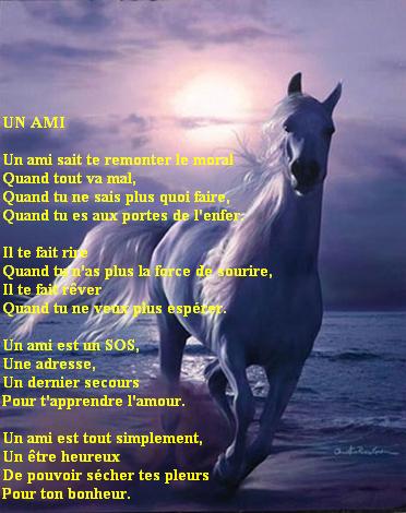 Un Chevalpaysage Belle Poésie Lamitié