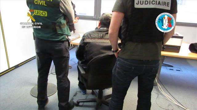 La Guardia Civil detiene en Francia y Macedonia a un narcotraficante y al autor de un homicidio, ambos huidos de la justicia española