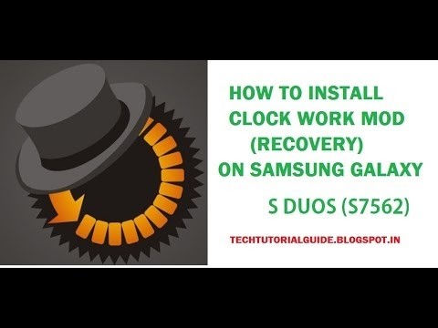 Samsung S Duos clock work mod recovery