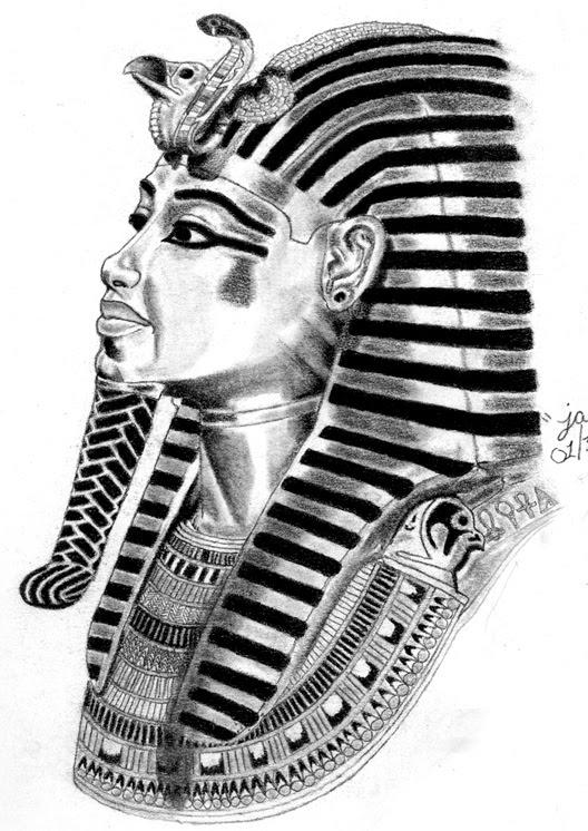 King Tut Drawings Kv62 Wikipedia How To Draw An Egyptian Pharaoh