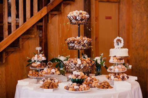 """wedding doanut cake   Donut hole wedding """"cake"""" table"""