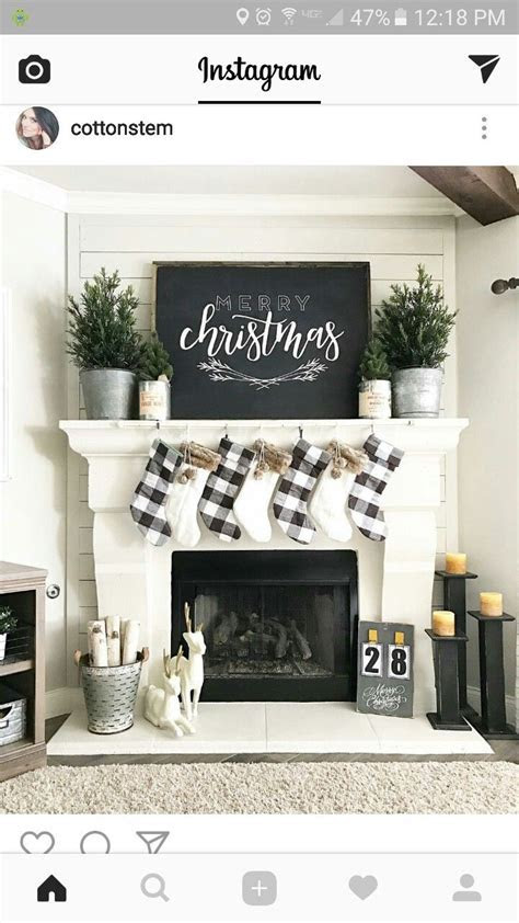 Love the chalkboard on the mantel   Mantels   Christmas