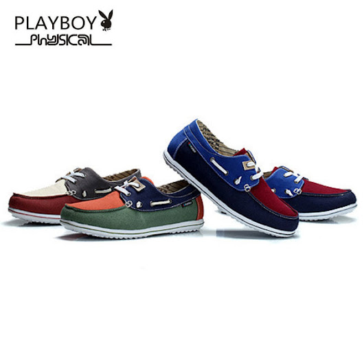 Men PLAYBOY PHYSICAL Canvas Boat Shoe