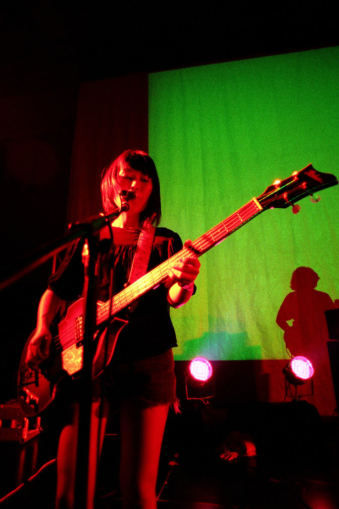 Deerhoof live in Hong Kong bassist