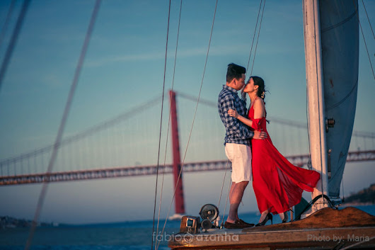 Tagus River Engagement Session in the Portuguese