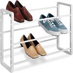 Whitmor 9-Pair Stacking Shoe Rack, White