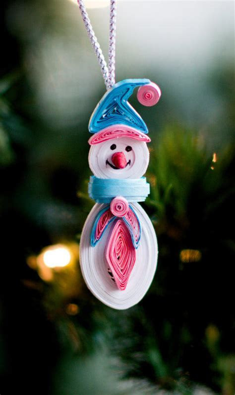 Snowman Ornament   Christmas tree from ofthingspretty on Etsy