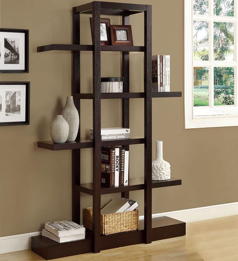 Living Room Etagere in Free Standing Shelves