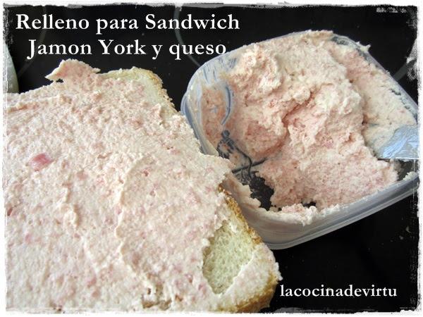relleno para sandwchi jamon york y queso