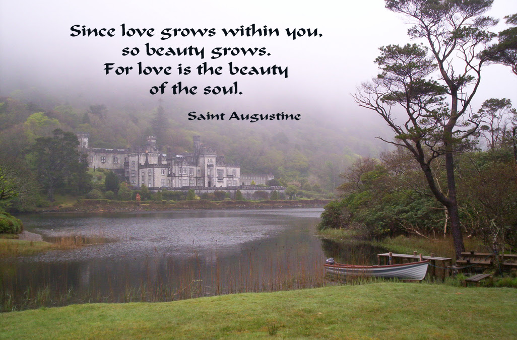 Saint Augustine Poster 5 Since Love Grows Within You So Beauty