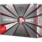 Callaway Chrome Soft X Truvis Golf Ball 12-Pack Red/White
