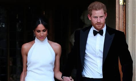 Meghan Markle wears her second wedding dress in the royal