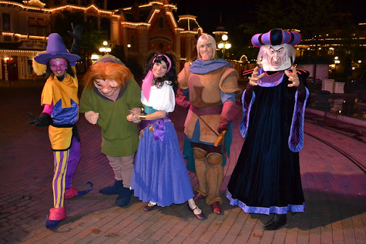The Hunchback of Notre Dame Gang greet us on Main Street