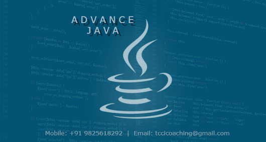 ADVANCE JAVA – tccicomputercoaching.com