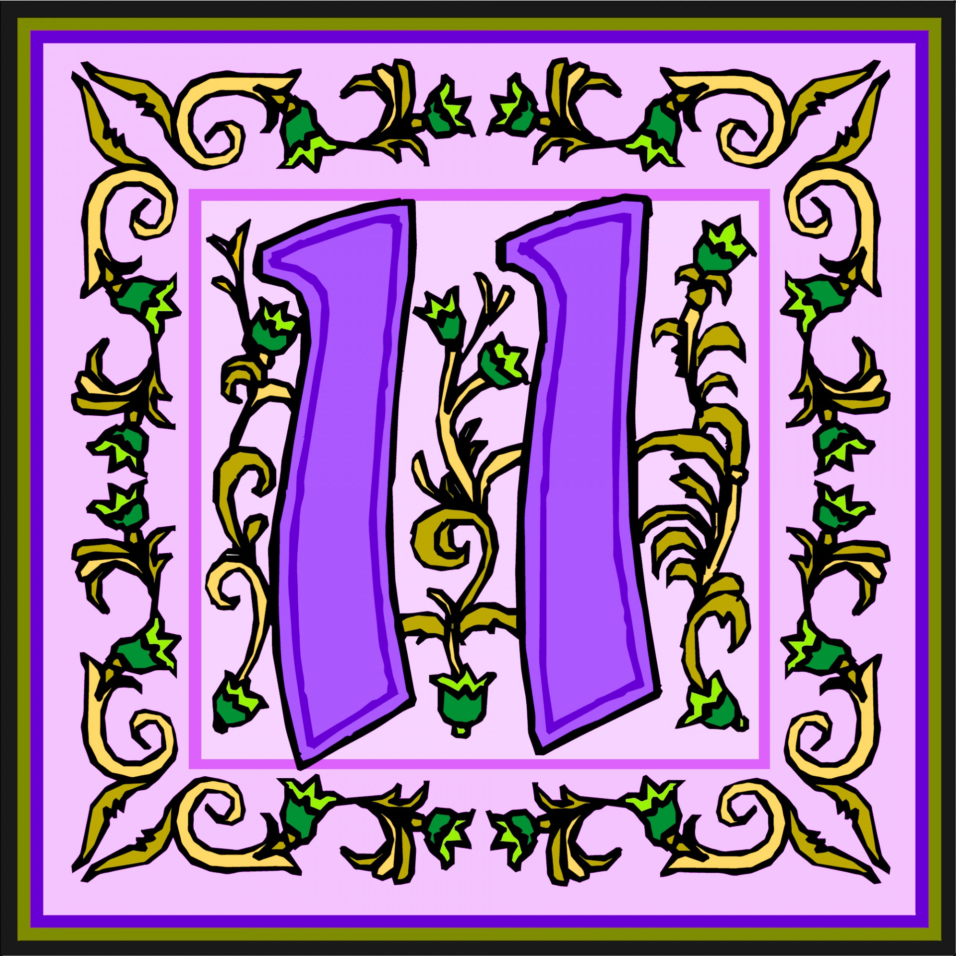 Flowery Purple Number 11